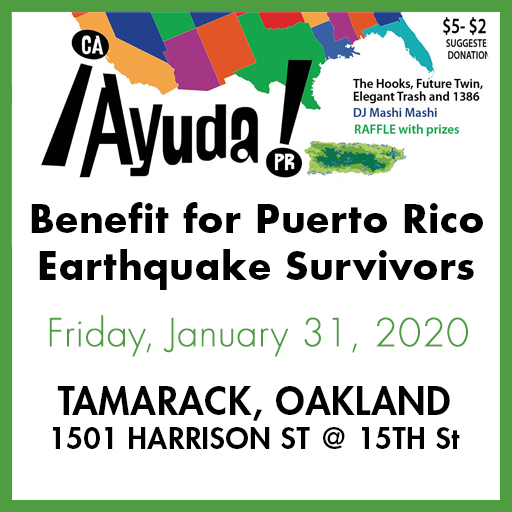 Benefit for Puerto Rico Earthquake Survivors